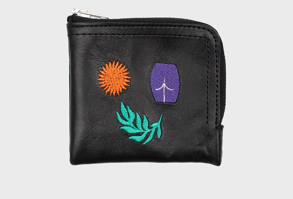 "Carne Bollente / ""SUN LEAVES US"" Purse / Black"