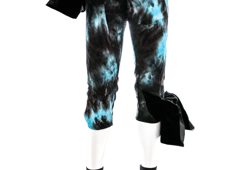 NODRESS /  Velvet Bowknot Tie-Dye Breeches / Black & Blue