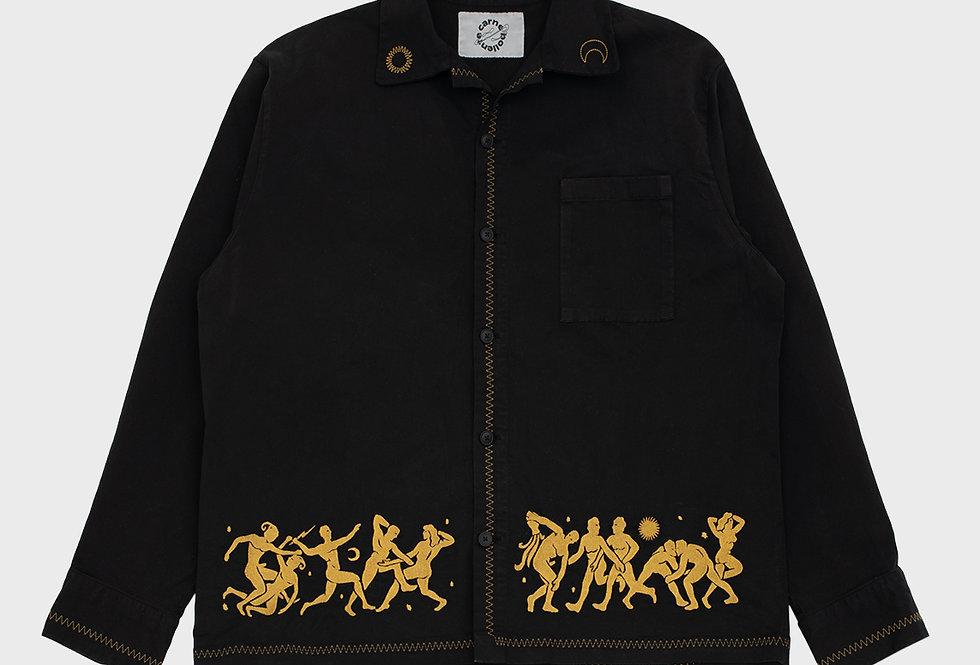 "Carne Bollente / ""HADES ORGY"" Shirt Jacket / Black"