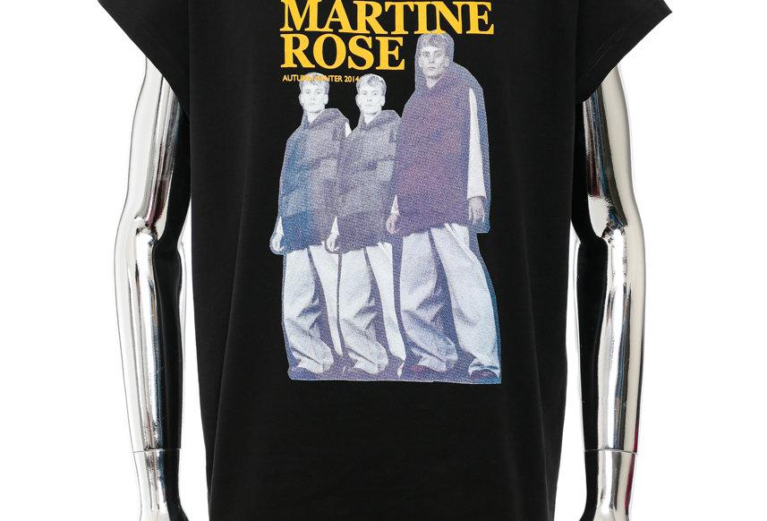 Martine Rose / Cap Sleeve T-Shirt / Black