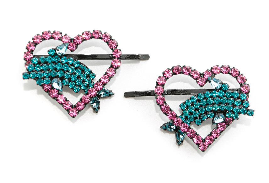 Ashley Williams / HEART DOLPHIN HAIRPINS