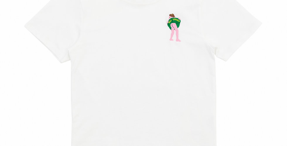 """Carne Bollente / """"NOT YOURS"""" BABY T-SHIRT / White"""