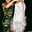 Thumbnail: NODRESS / Ostrich Brooch Satin Skirt / Silver Grey