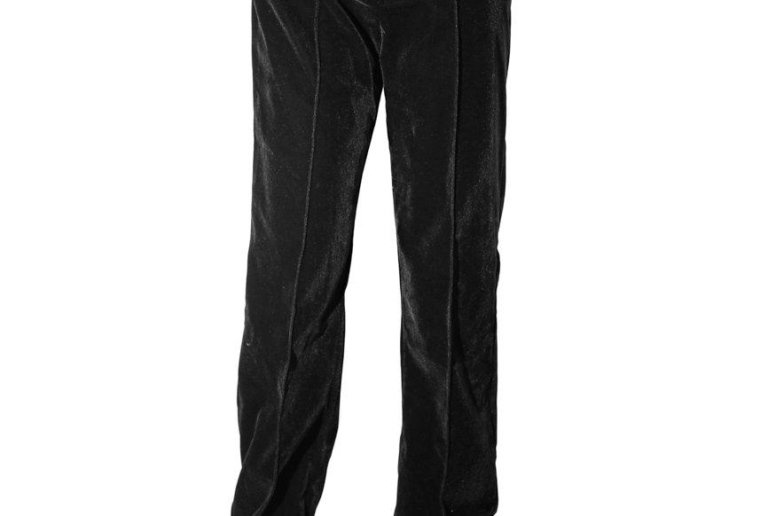 JOHN / Oblique High Waist Trousers / Velvet Black