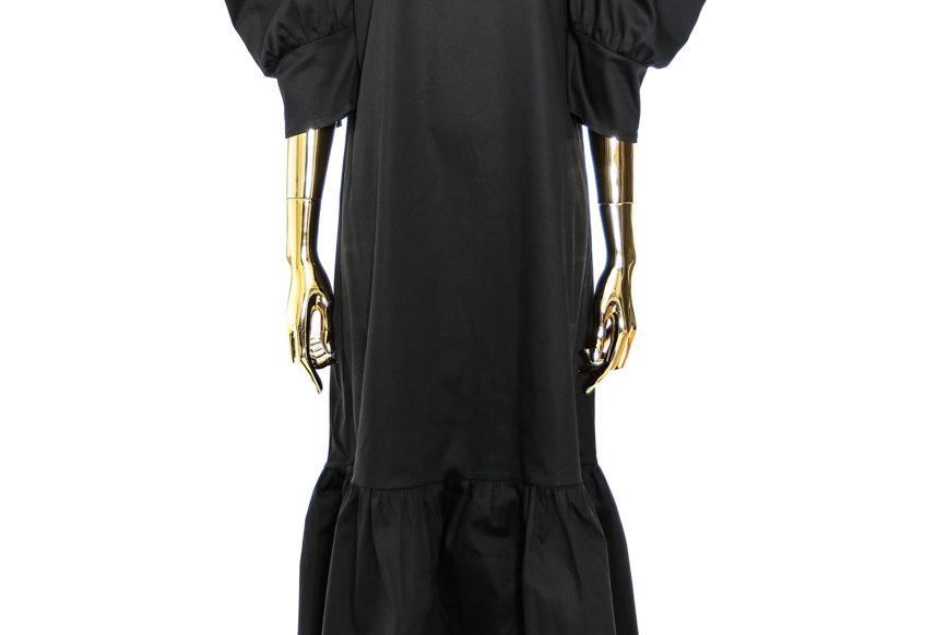 JOHN / Mutton Sleeve Dress / Black