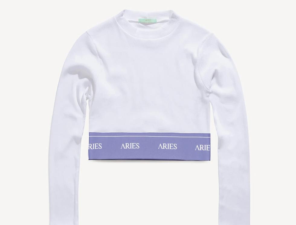 Aries / Rib Crop Top / White