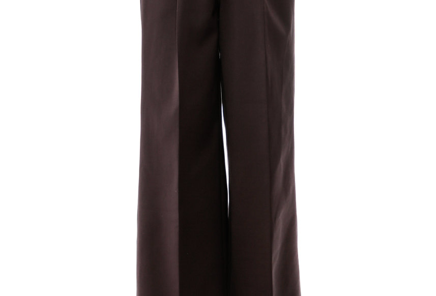 JOHN / Brown High Waist Wide Trousers