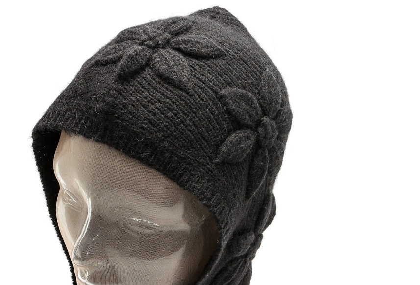 SHRIMPS / Alpaca Blend Knitted Balaclava / Black
