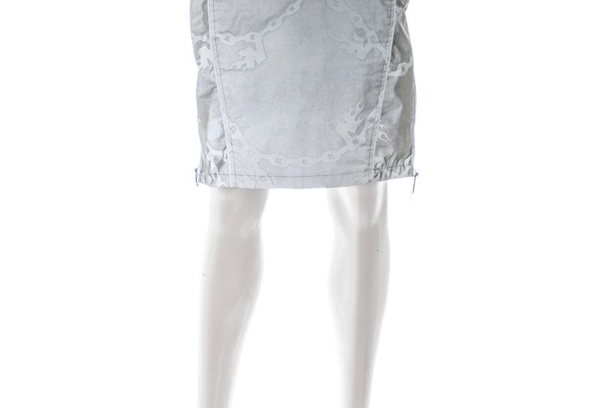 NODRESS / Reflective Skirt / Chain Textured Silver-Grey