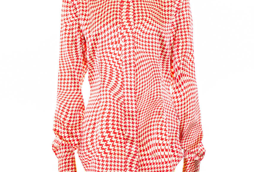 GANNI / Silk Stretch Satin Shirt / Lollipop