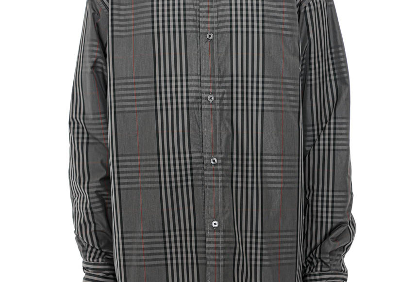 Martine Rose / Padded Shirt Jacket / Grey Check