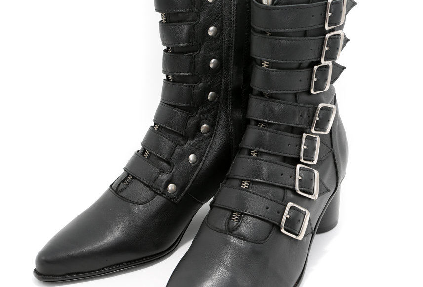 Charles Jeffrey / POINTED WINKLE PICKER BOOTS / BLACK