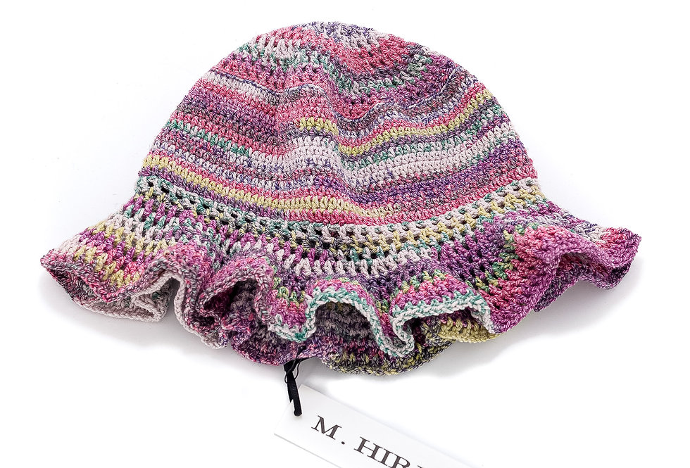 Hand Knit Hat / Multi-Pink