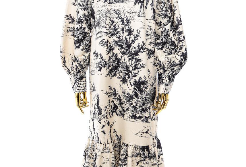 JOHN / French Scenic Printed Dress