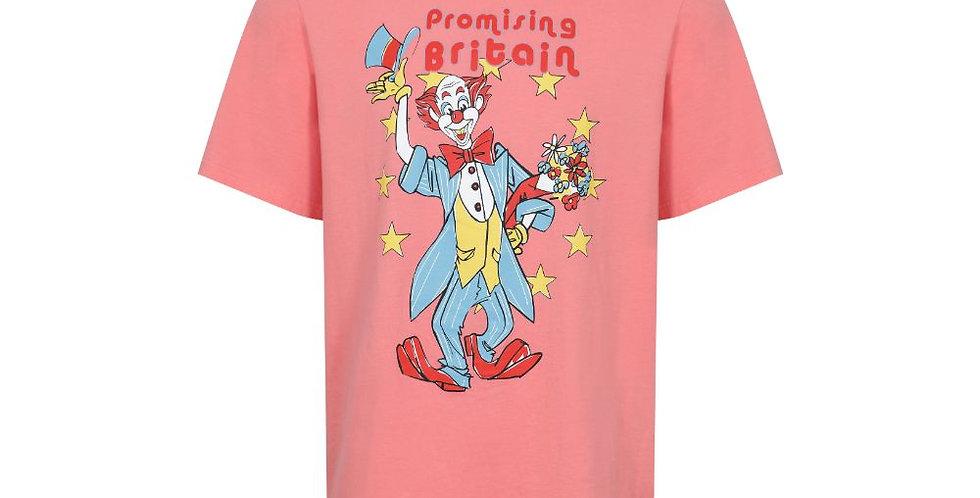 Martine Rose / T-Shirt with Clown Artwork / Peach