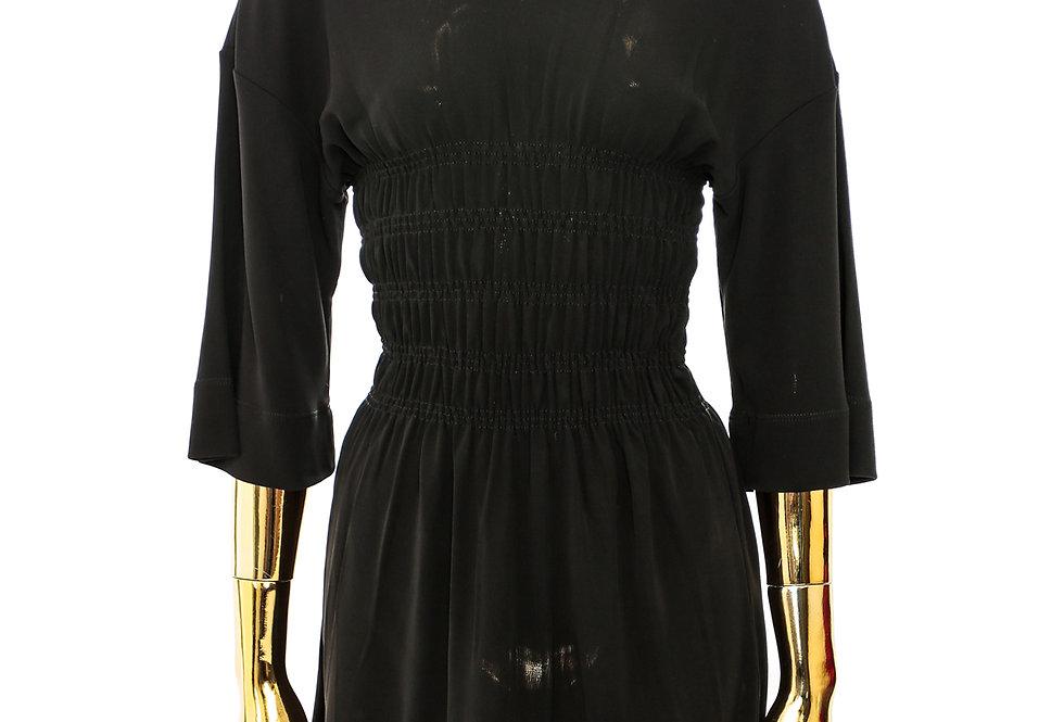 GANNI / Viscose Jersey Smock T-Shirt / Black