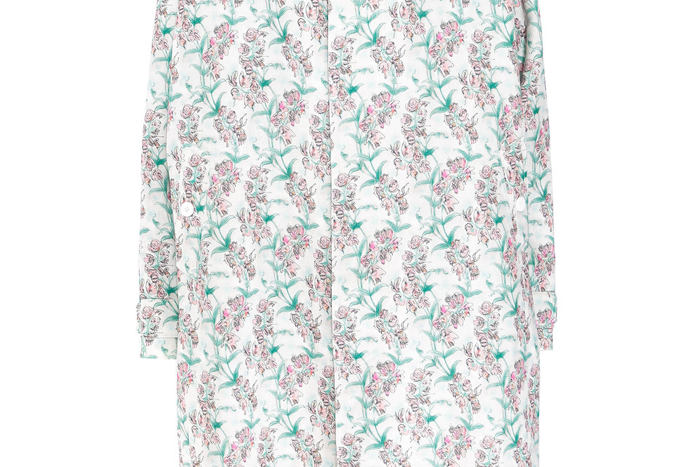 Charles Jeffrey / Oversized Mac With Neck Tab+Contrast Stitch / Blooms Print