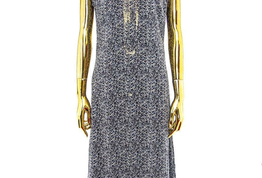 GANNI / Printed Georgette Dress / Phantom