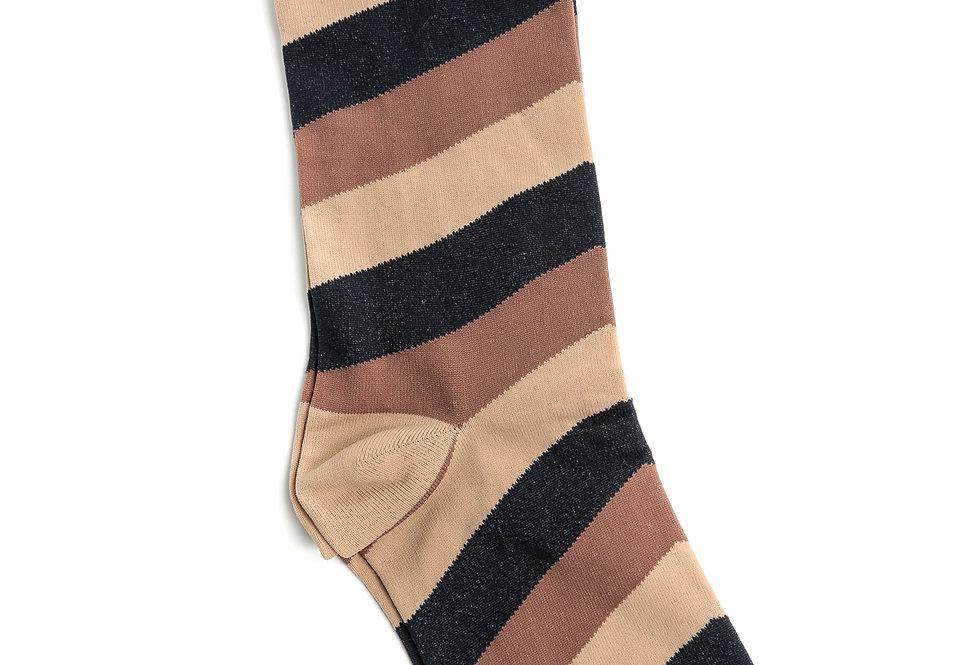 GANNI / Polyamide Blend / Diagonal Stripes Socks / Multicolor