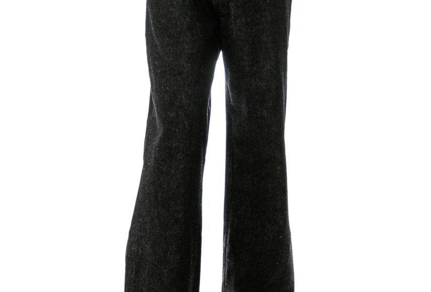 JOHN / Black Oblique High Waist Jeans