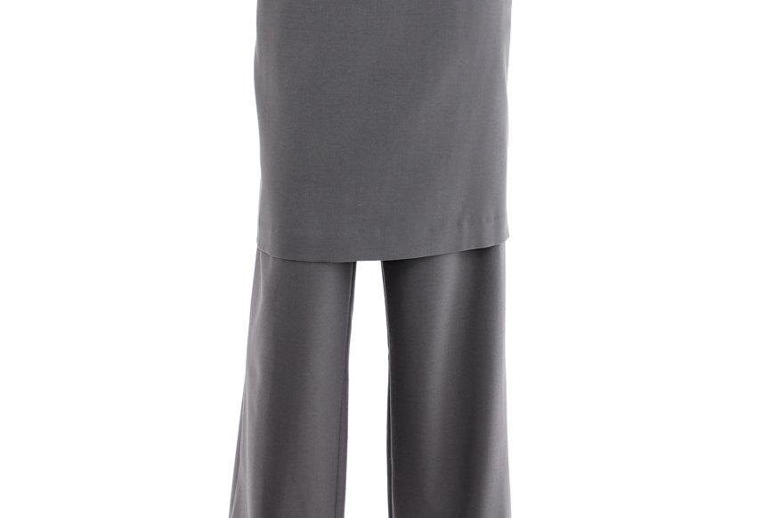 JOHN / Skirt Effect Trousers / Grey
