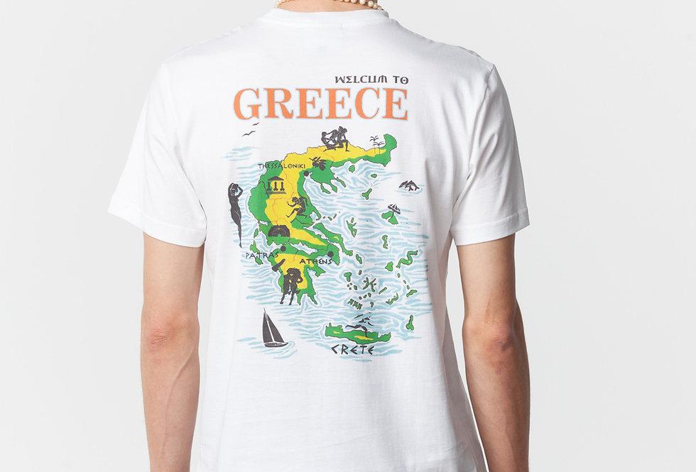 "Carne Bollente / ""WELCUM TO GREECE"" T-Shirt / White"