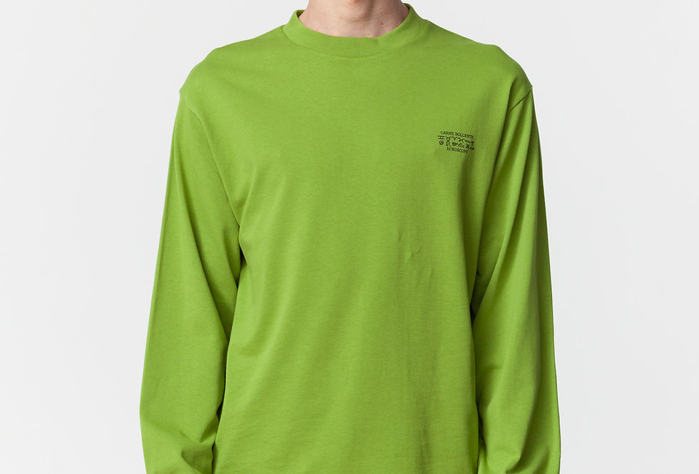 "Carne Bollente / ""THE HEROSCOPE"" Long Sleeve T-Shirt / Green"