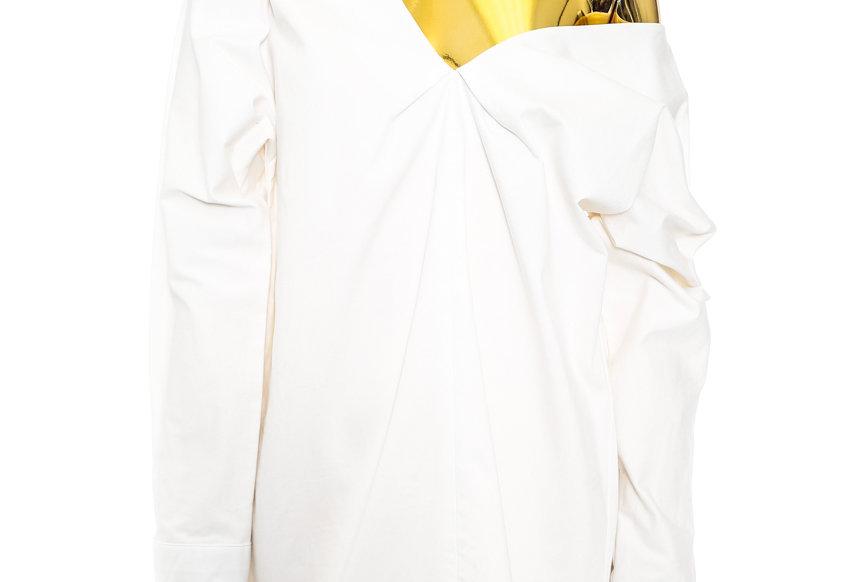 JOHN / Off-The-Shoulder Shirt / White