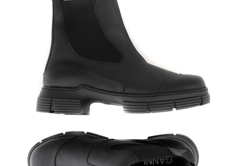 GANNI /Recycled Rubber City Boot / Black