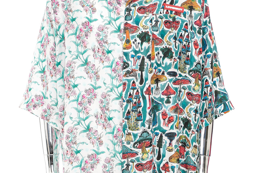 Charles Jeffrey / 'Alf 'N' 'Alf Hawaiian Shirt / Shrooms + Blooms Print