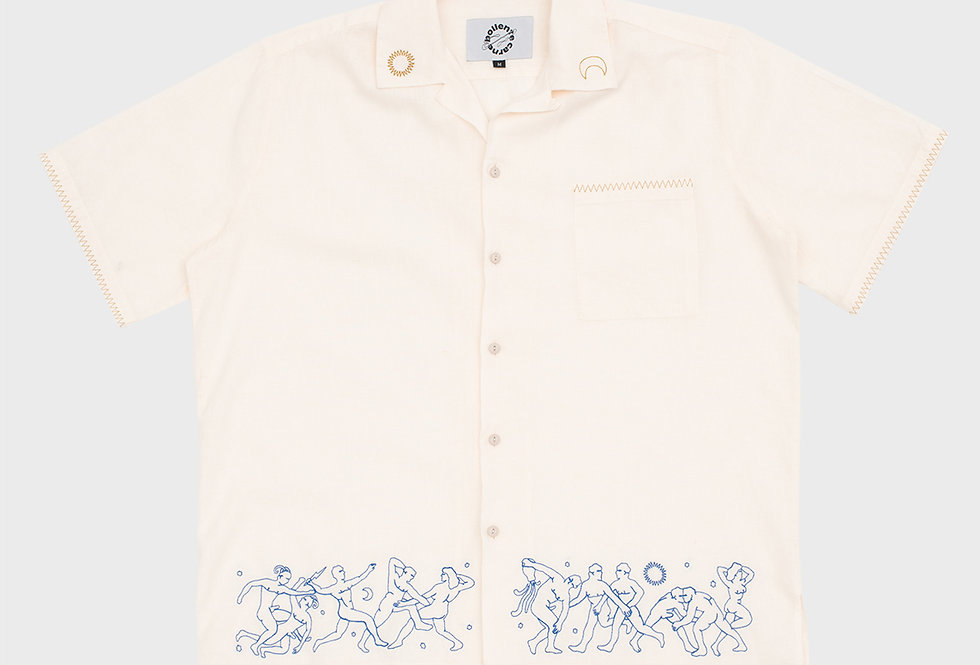 """Carne Bollente / """"HADES SUMMER ORGY"""" Shirt / Cream"""