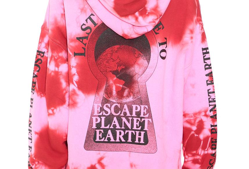 Ashley Williams / POCKET HOOD / PINK TIE DYE - PLANET EARTH