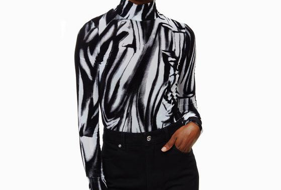 ECKHAUS LATTA / ILLUSION TURTLENECK / BLACK&WHITE