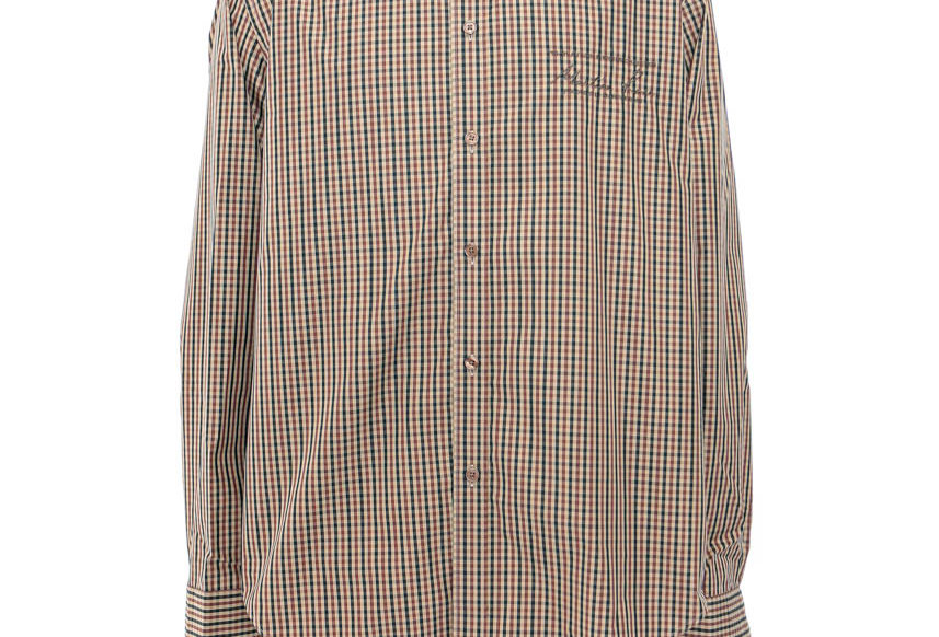 Martine Rose / Classic Long Sleeve Shirt / BrownCheck