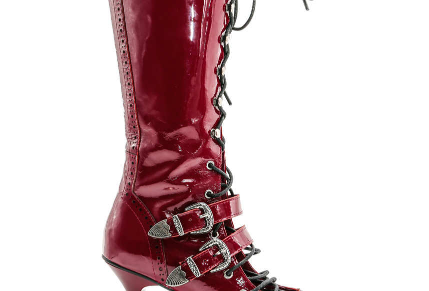 NODRESS / Bloody Handmade lace-up high heel leather boots