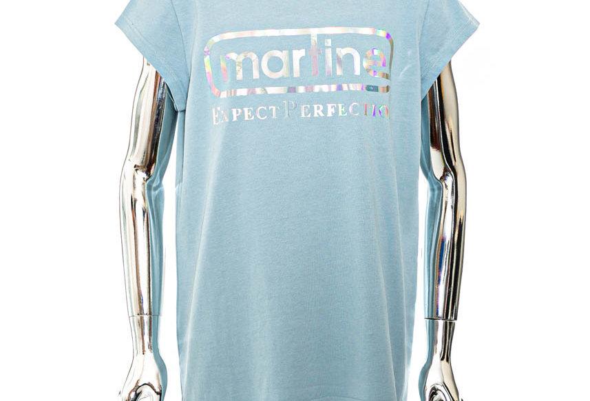 Martine Rose / Cap Sleeve Perfection T-shirt / Blue