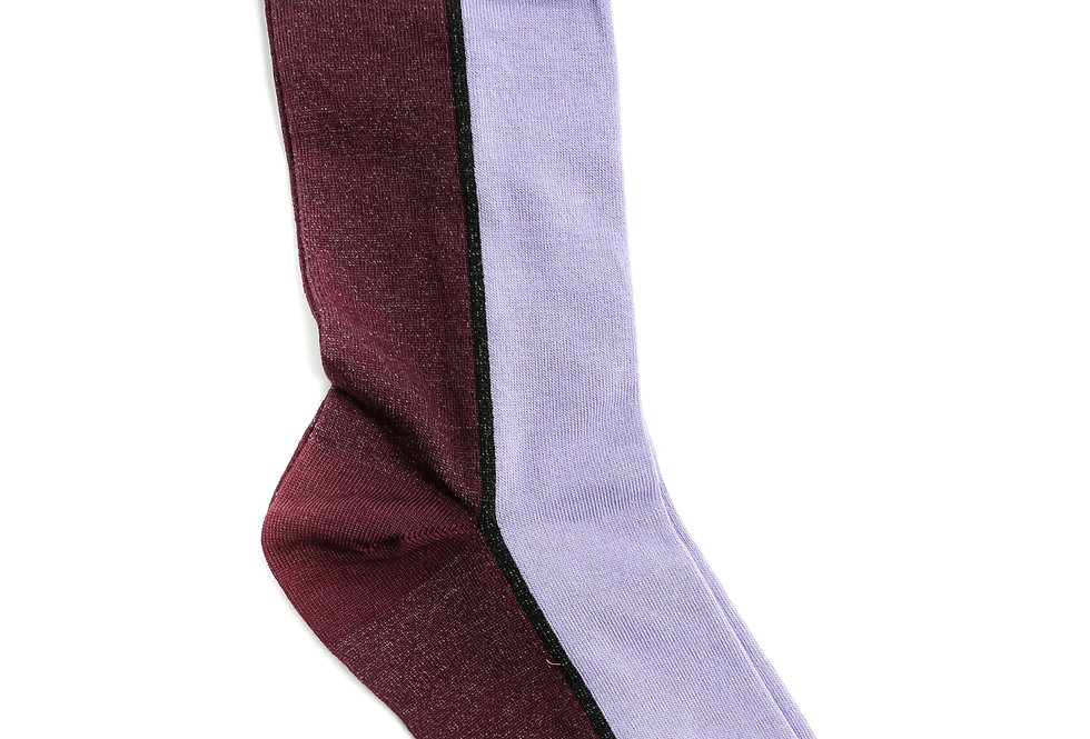 GANNI / Cotton Blend Socks / Decadent Chocolate