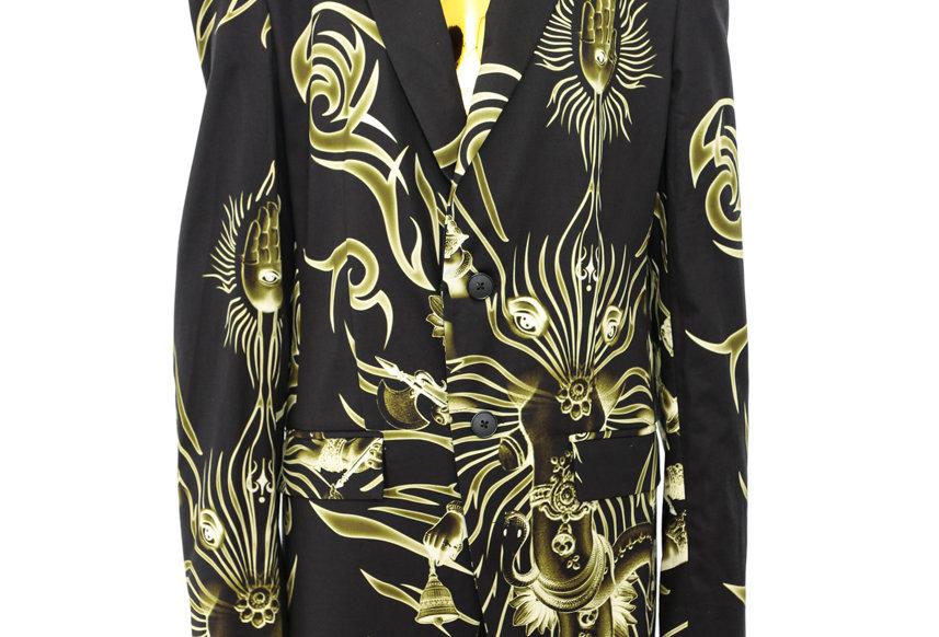 LĒO / Printed Suit Jacket / Black