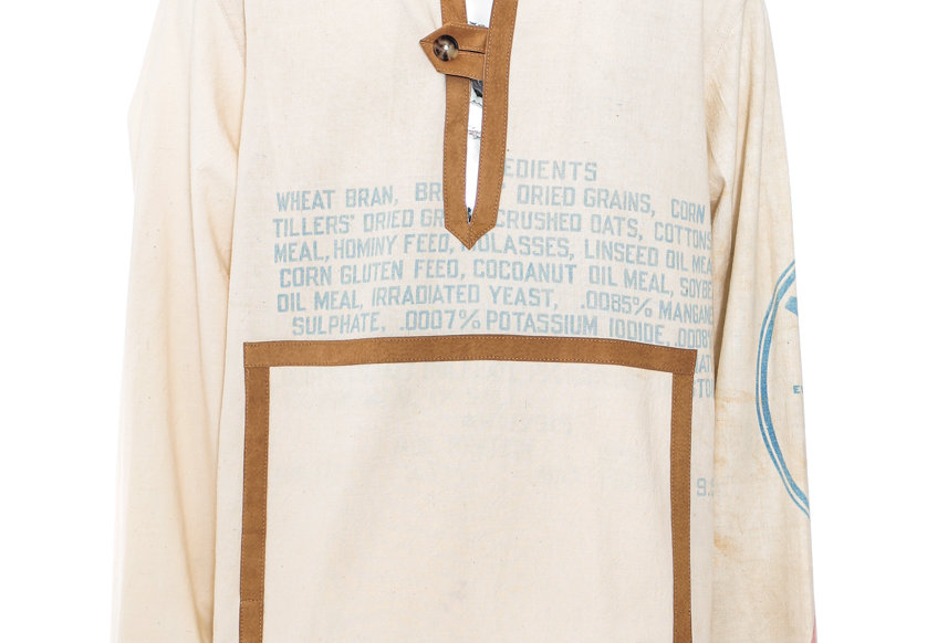 BODE / FEEDSACK SUEDE TAB PULLOVER / Natural