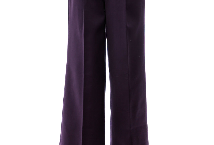 JOHN / Purple High Waist Wide Trousers