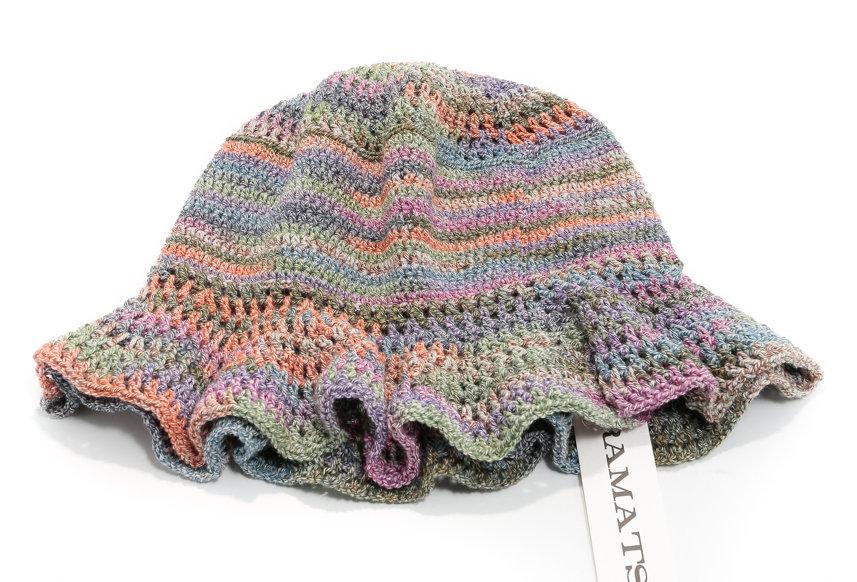 M. HIRAMATSU / Hand Knitted Bucket Hat / Multi-Ka