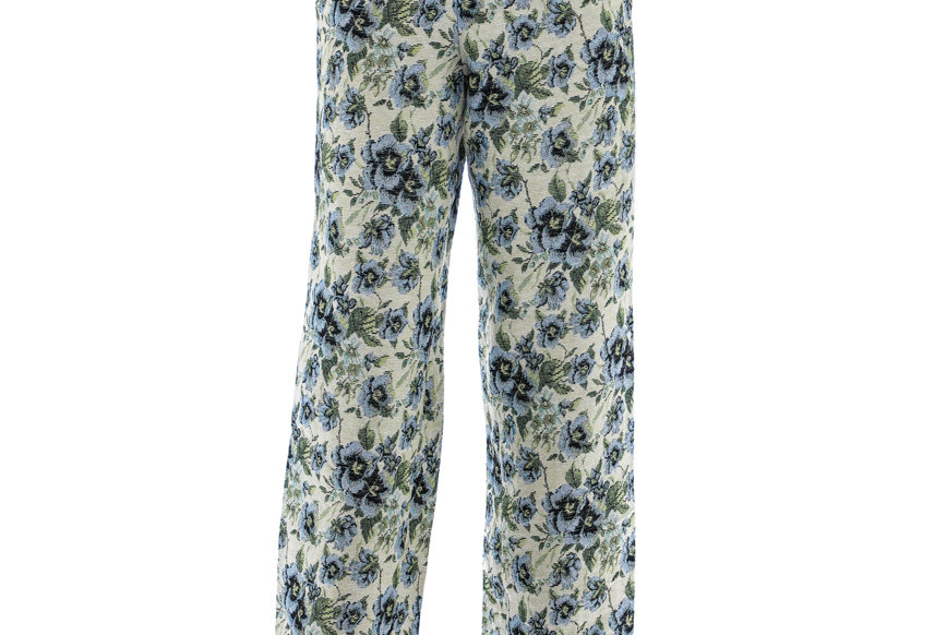 JOHN / Floral Jacquard Pants