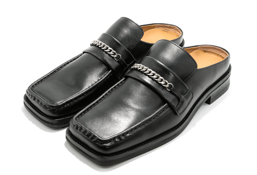 Martine Rose / LOAFER MULE / Black Leather