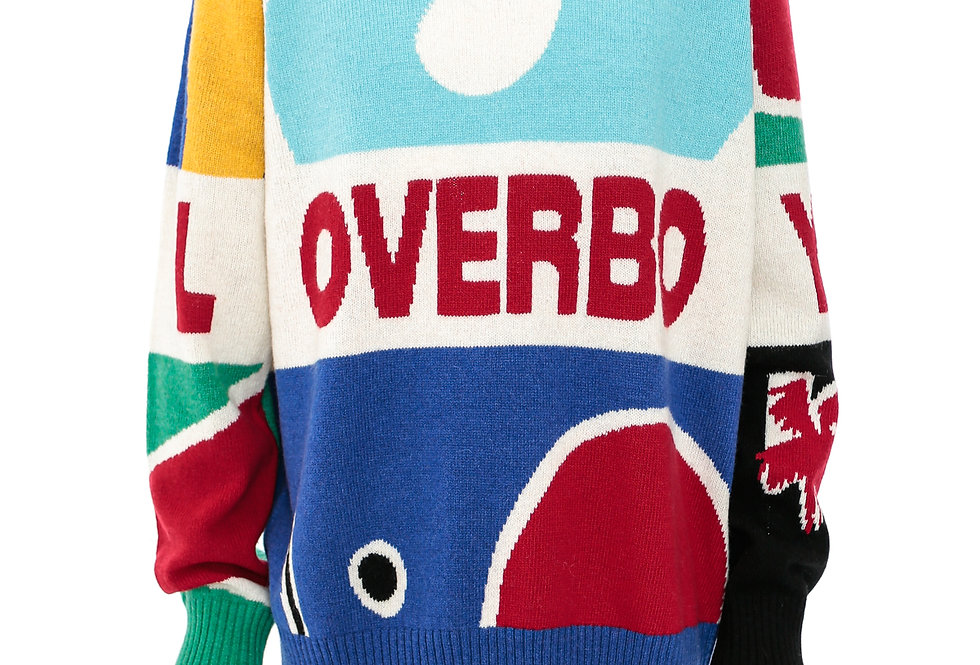 Charles Jeffrey / Loverboy Logo Graphic Jumper / Multicoloured