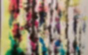 frammento di inchiostro su crtoncino