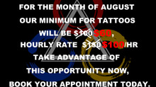 August Promotion.....