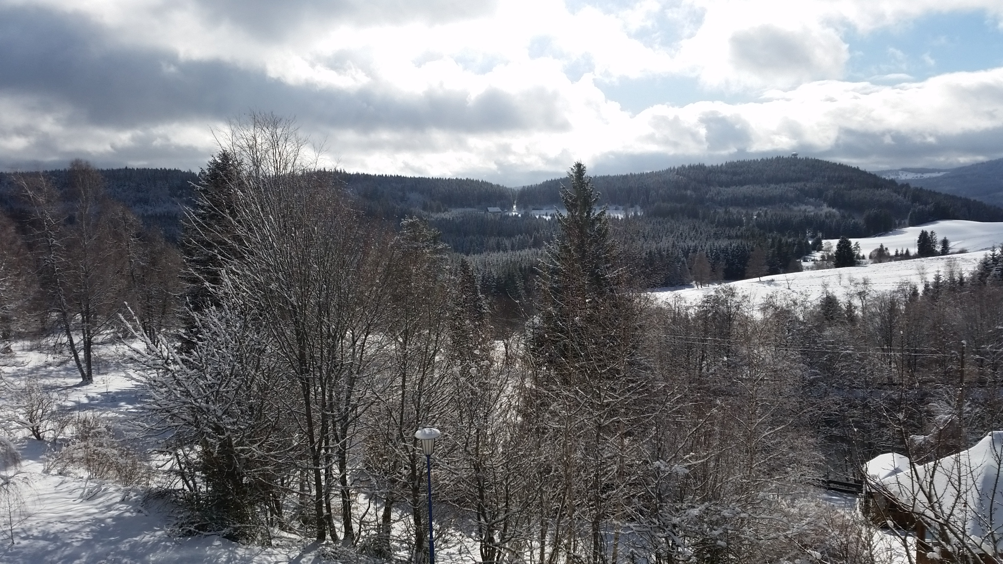 Residenz Aussicht schnee weite
