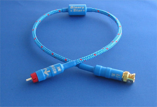 Missing Link Audio, Binary Star Digital Cable, High quality Digital cable, hi end digital cable, S/PDIF Cable, Silver Digital cable