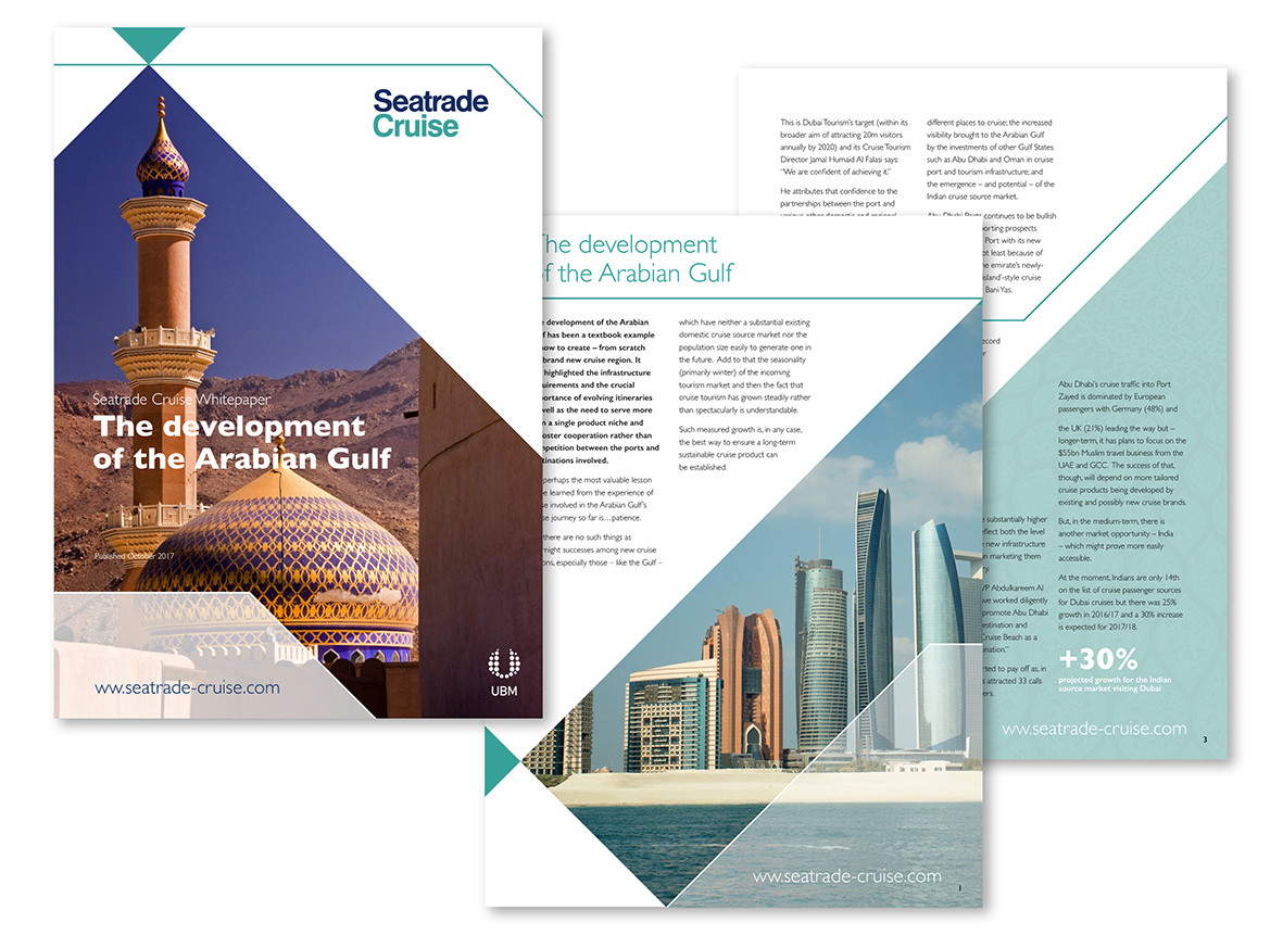 Seatrade Cruise: Whitepaper discussing the rise of cruising in the Middle East.