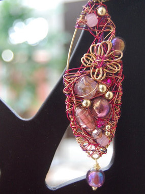 Pink Leaf pendant